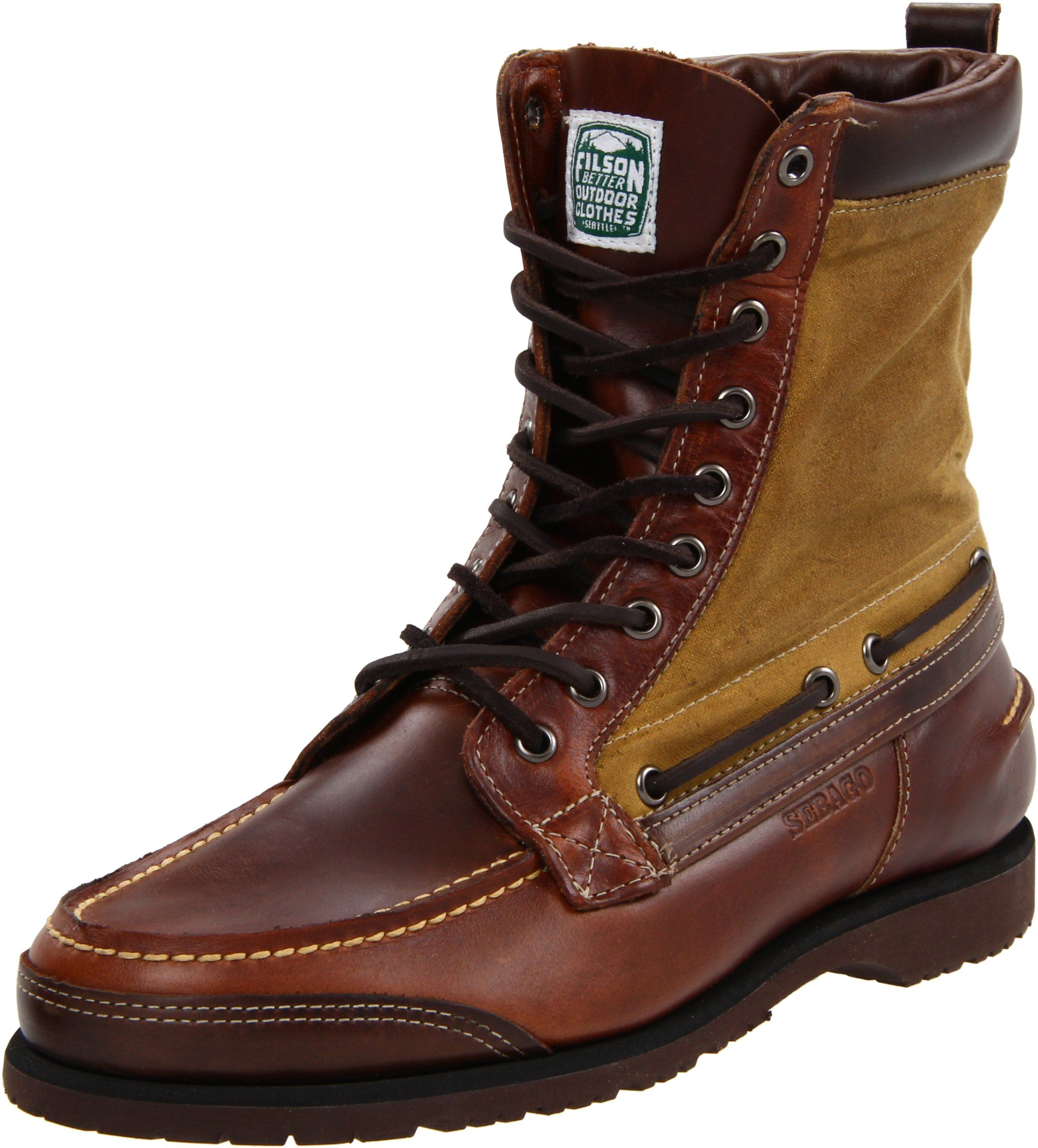 Amazon.com | Sebago Men's Osmore Lace-Up Boot, Brown Oiled Waxy, 7 M US |  Boots