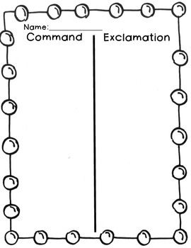 Commands And Exclamations 3 Activities