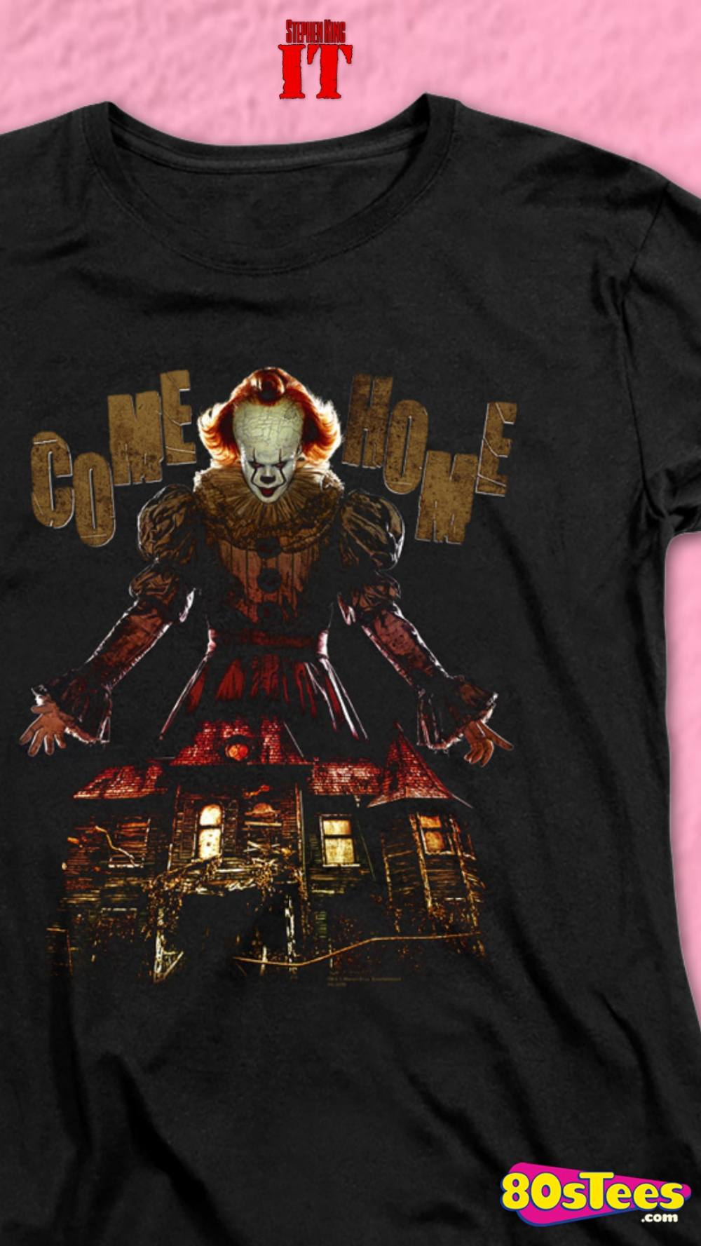 Lover Loser IT T Shirt pennywise clown movie horror 2017 black mens tee NEW