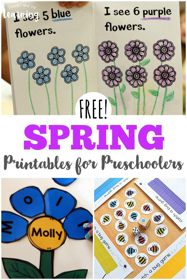 Free Spring Printables For Preschoolers Look We Re Learning Spring Printables Free Preschool Printables Free Preschool [ 1100 x 735 Pixel ]