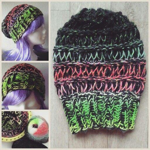 Loomknitting  Joy4crafts ,Spring breezy slouchy hat