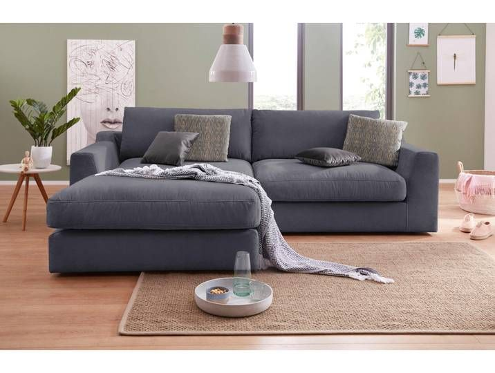 Sit More Ecksofa Grau Struktur Weich Couch Sofa Furniture