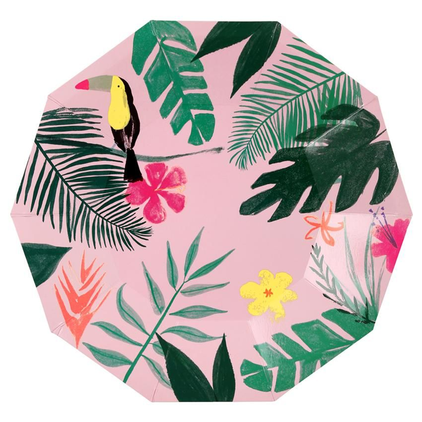 Tropical Pink Modern Paper plates Meri  sc 1 st  Pinterest & Tropical Pink Modern Paper plates Meri | graduation party | Pinterest