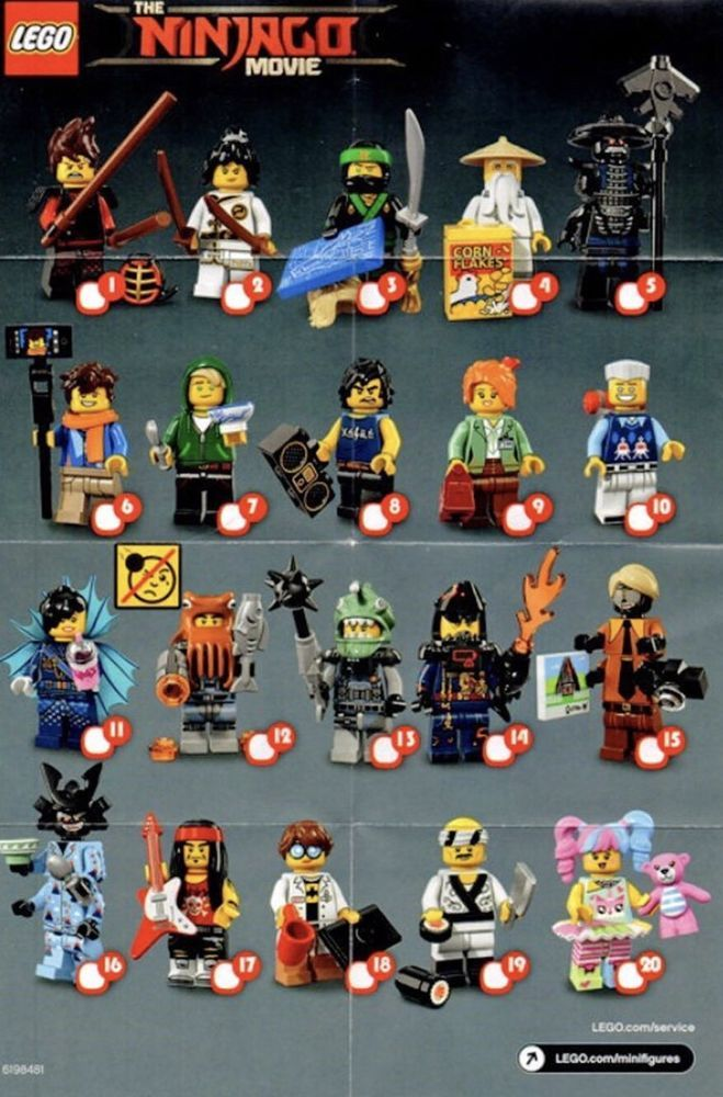 Lego Ninjago Movie Minifigures 71019 Full Set Of 20 Mini