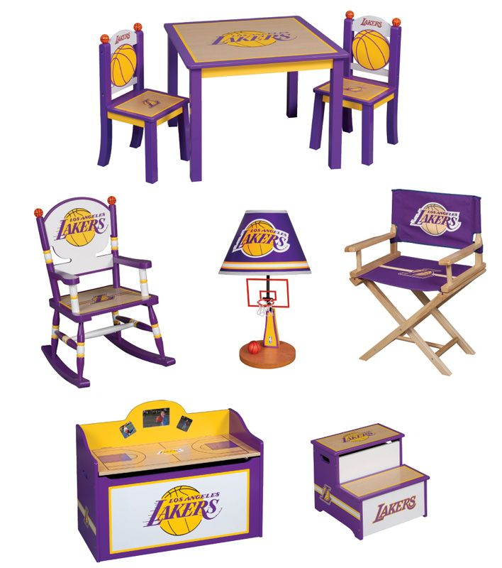 Los Angeles Lakers Kids Furniture   6 Pieces NBA Furniture Set For Kids    Discontinued