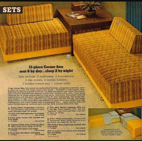 1970u0027s Daybed / Sofa Sectionals. Back