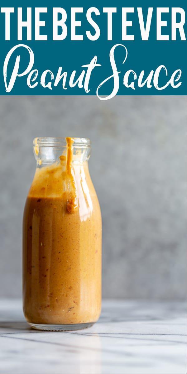 Best Ever Thai Peanut Sauce #seasonedricerecipes