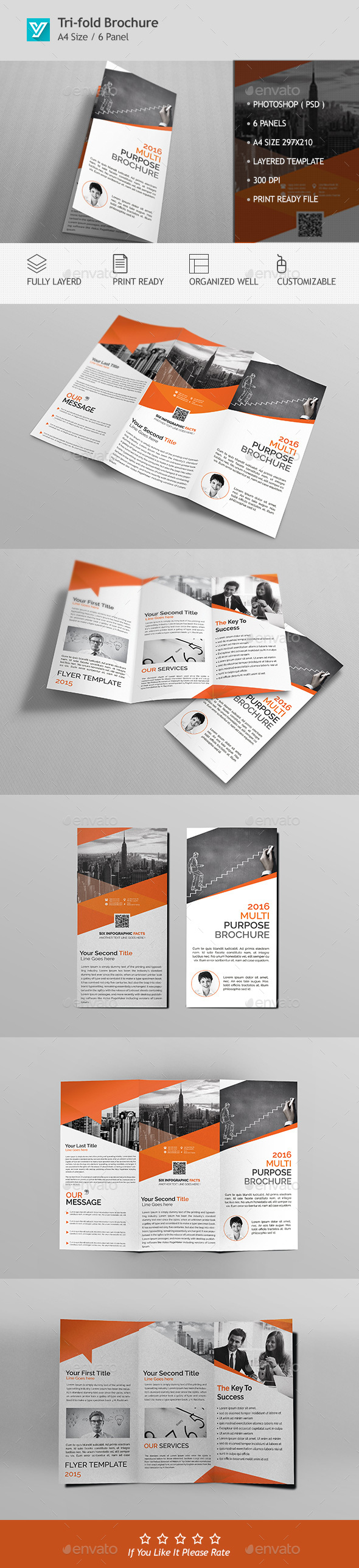 Corporate Trifold Brochure Template PSD Design Download Http - Trifold brochure template psd