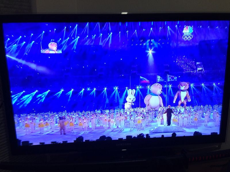 Day 54  Bye Olympics! - The closing ceremony of the Olympics had giant bears, rabbits and puma.