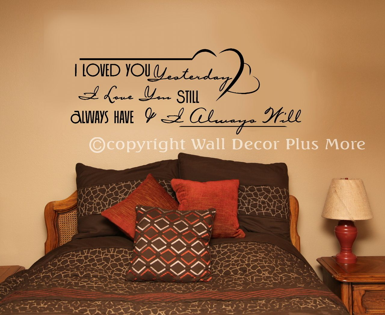 Wedding decorations quotes  Always Love You Wall Decal Stickers Vinyl Lettering Bedroom Wedding