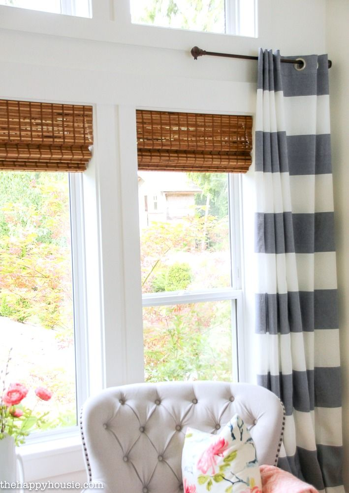 The Blinds Are In Our Cordless Bamboo Woven Blinds Bamboo