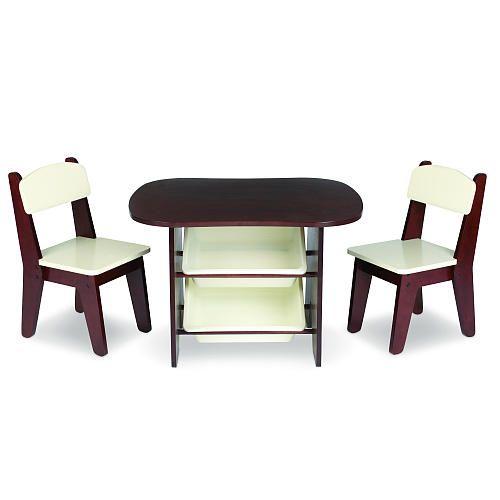 Imaginarium Wooden Table and 2 Chair Set - Espresso  sc 1 st  Pinterest & Imaginarium Wooden Table and 2 Chair Set - Espresso | Babies ...