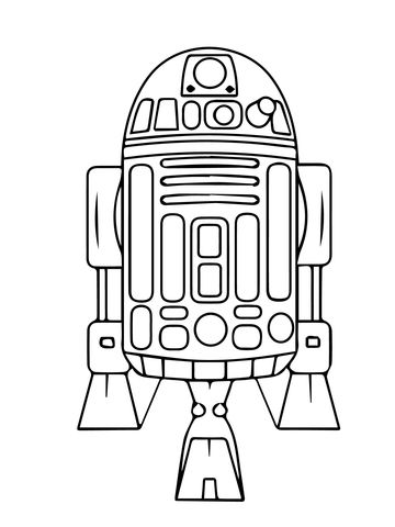 Astromech Droid R2 D2 Coloring Page From The Phantom Menace Category