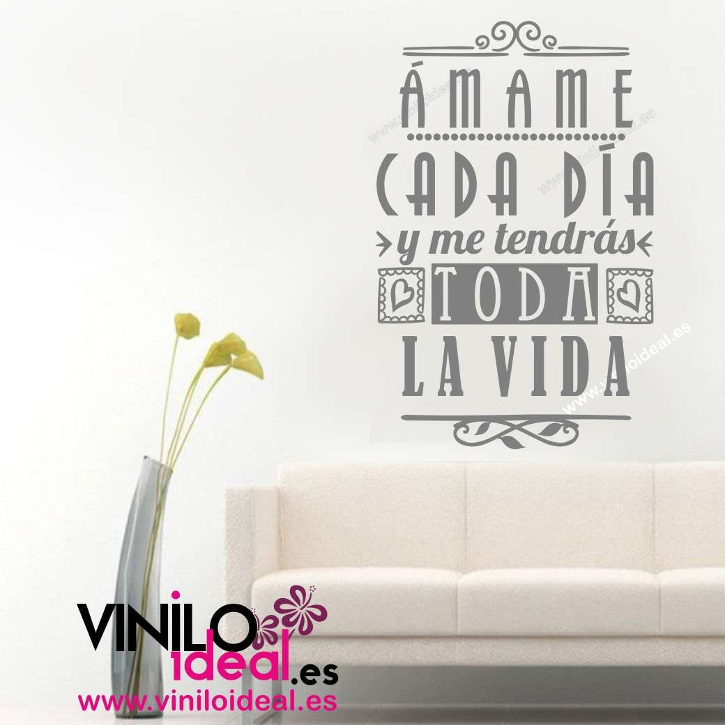 Vinilo decorativo frases en vinilo decoraci n de paredes - Pegatinas pared frases ...
