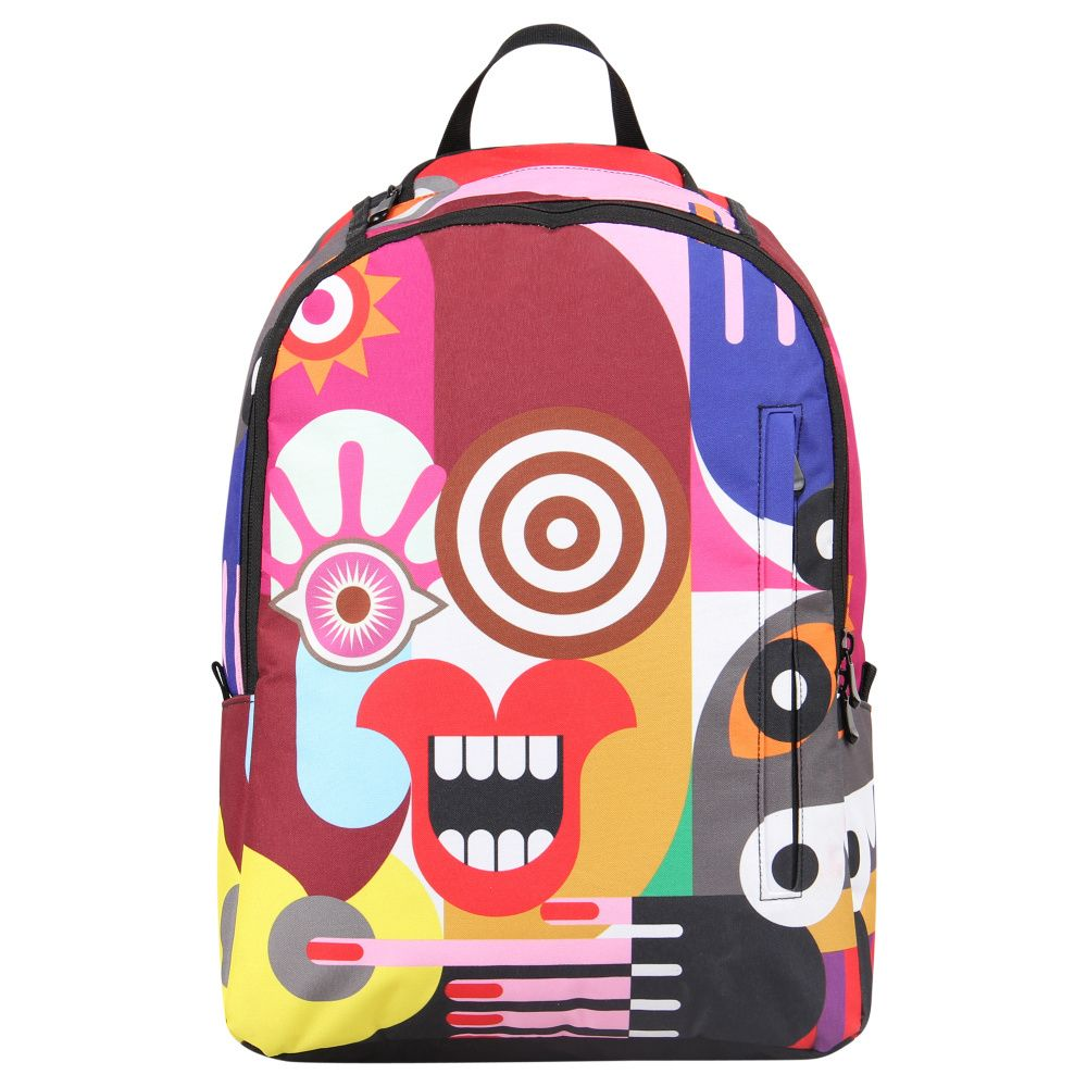2017 Veevan Brand Multicolor Geometric Picture Printing Backpacks Tachisme Pattern Causal Agers School Bags Free Shipping