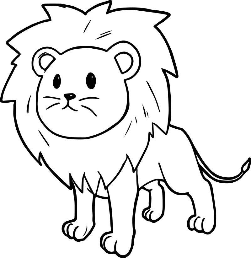 Cute Cartoon Comic Lion Coloring Page Lion Coloring Pages Cartoon Lion Cartoon Coloring Pages