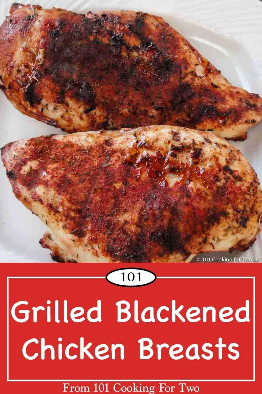 Grilled Blackened Chicken Breasts #blackenedchicken Classic grilled blackened chicken breast bursting with spicy grilled goodness that you will love. Just follow the easy step by step photo instructions. #blackenedchicken Grilled Blackened Chicken Breasts #blackenedchicken Classic grilled blackened chicken breast bursting with spicy grilled goodness that you will love. Just follow the easy step by step photo instructions. #blackenedchicken