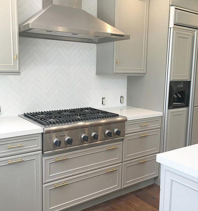 Dark Grey Painted Kitchen: Instagram Interiors: Dovetail SW 7018 By Sherwin-Williams