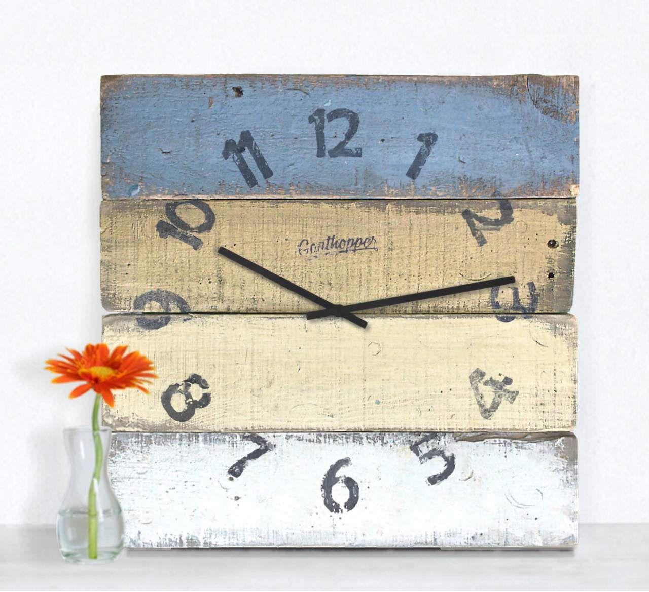 Eggplant Mustard Kitchen Wall Clock Pickwick In 2020 Wall Clock Distressed Wall Clock Kitchen Wall Clocks