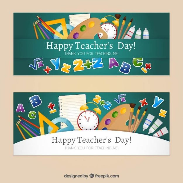 Download Happy Teacher S Day With Hand Drawn Banners For Free Happy Teachers Day Banner Drawing Teachers Day