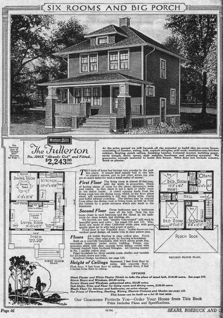 1910 American Foursquare Sears Catalog Homes Four Square Homes Kit Homes