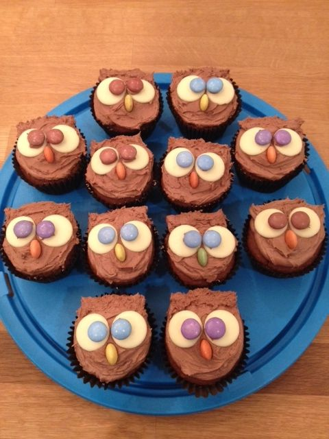Advice owl cupcakes from the Nottingham office party