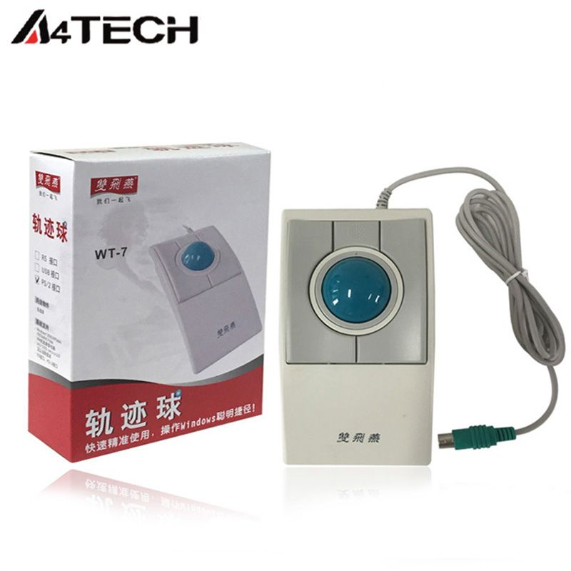 A4tech WT-7 trackball mouse Wired USB mouth 4d trackball mouse for ...