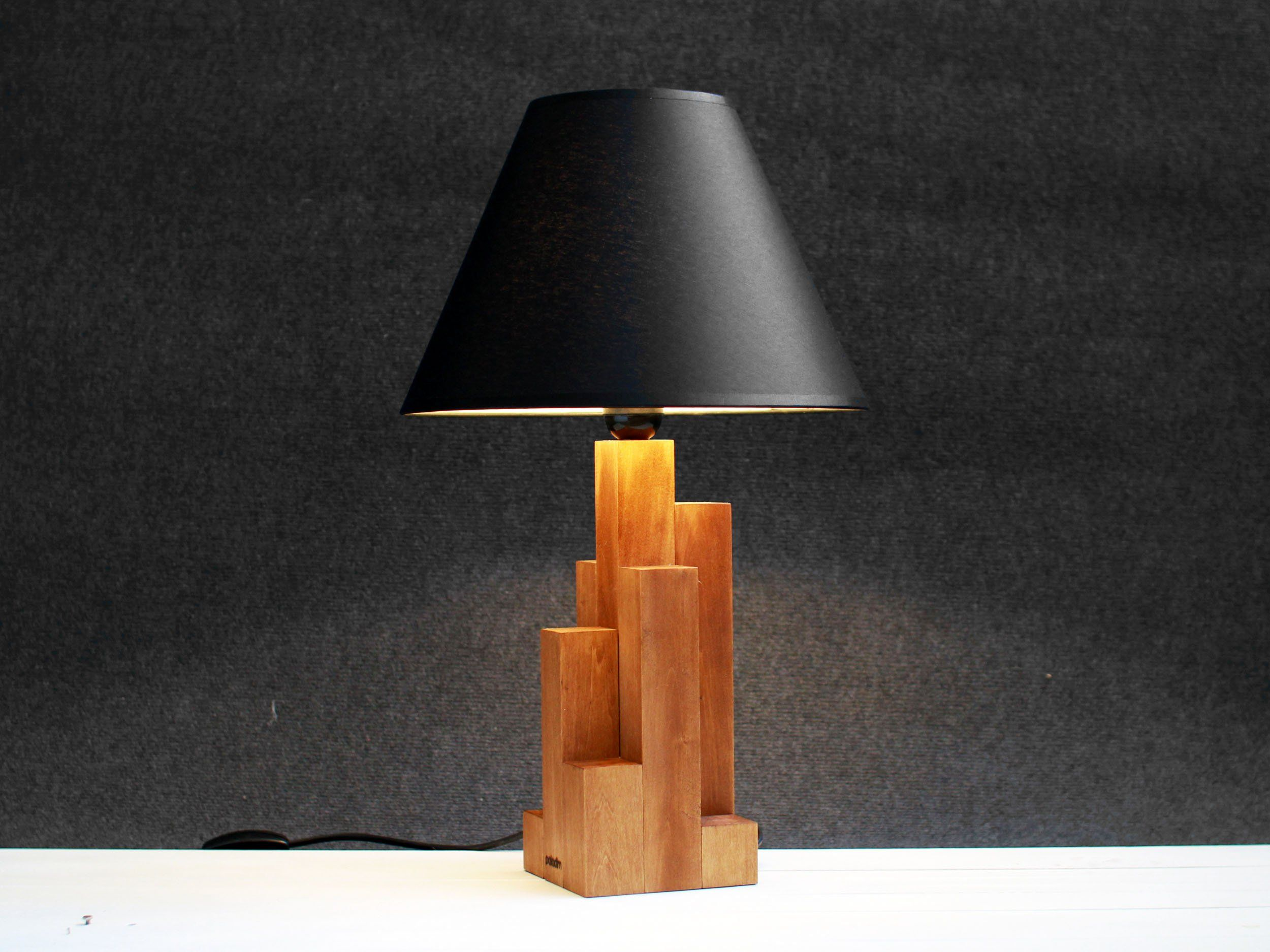 Industrial Style Lamp Industrial Design Wooden Lamp Tall Etsy