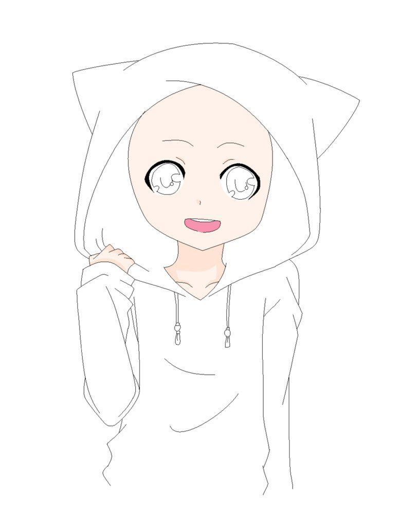 Anime boy base cat hoodie base by natalielobsters