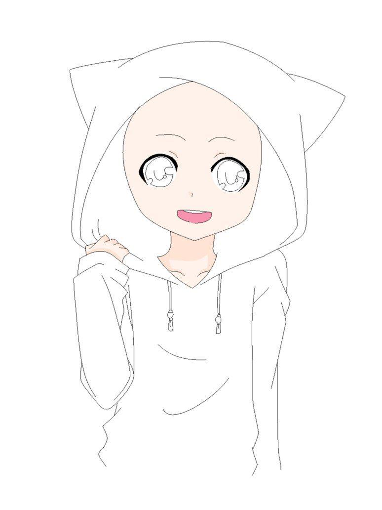 Hoodie Anime Base : hoodie, anime, Drawing