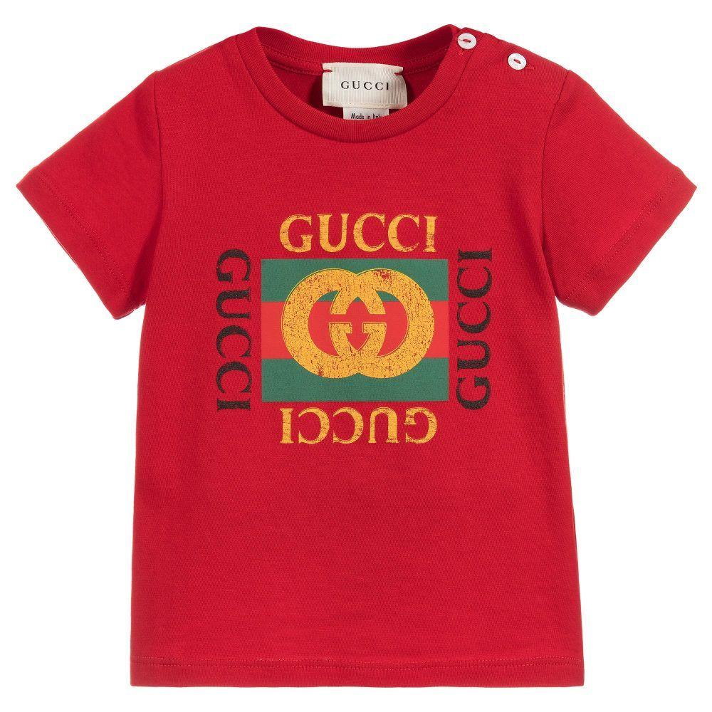 54cc68e8b9b0 Gucci - Red Cotton Baby T-Shirt