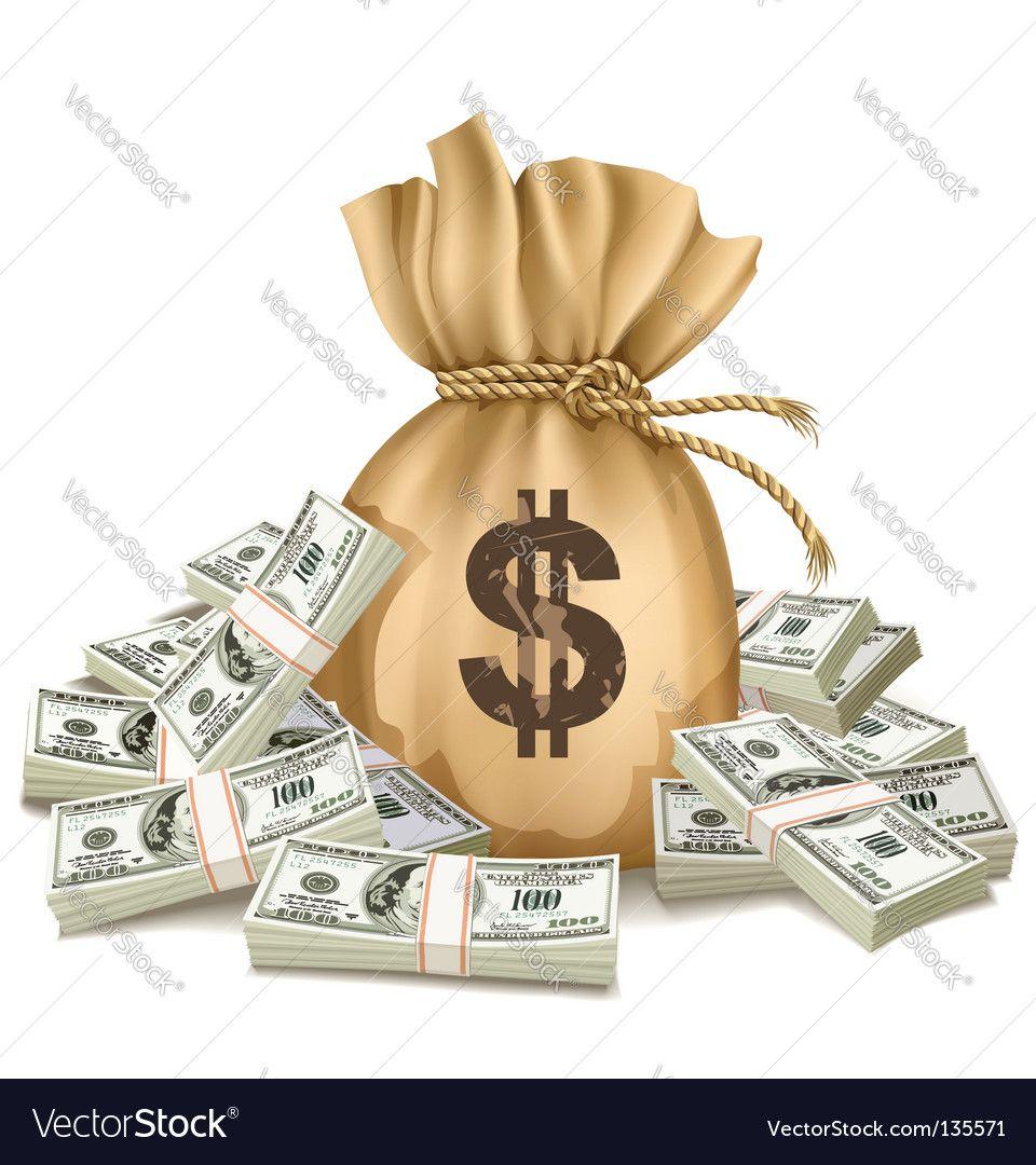 Dollar Bills Royalty Free Vector Image Vectorstock Sponsored Royalty Bills Dollar Free Ad Money Bag Clip Art Vector Free