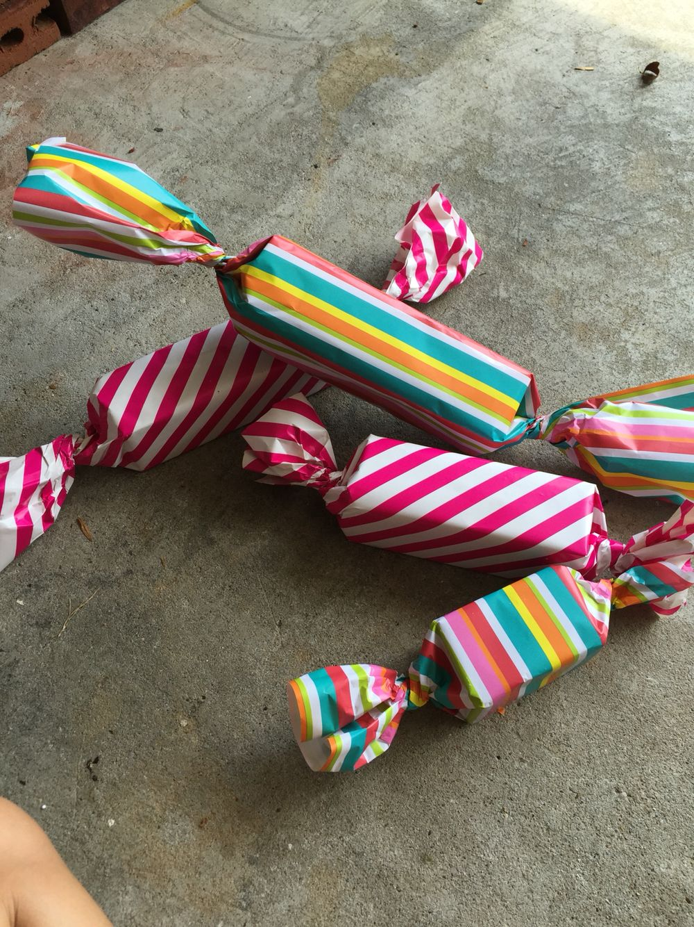 Great for outside candy land party. They will not blow away