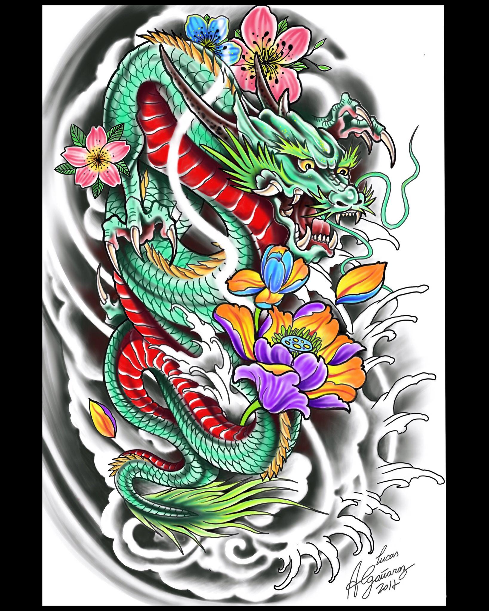Color Like Mine Tatuagem De Dragao Desenhos De Tatuagem De