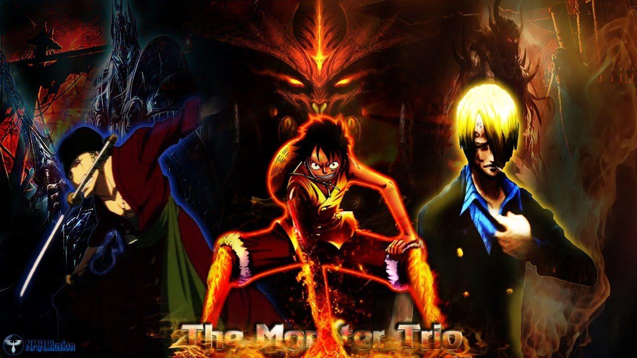 One Piece Amv Luffy Zoro Sanji The Monster Trio Youtube Di 2020