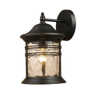 Landmark Lighting 08161 Transitional Single Light Down Lighting Outdoor Wall Sconce from the Madison Collection
