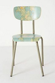 Geography Lesson Chair Anthro--could be easy DIY desk chair