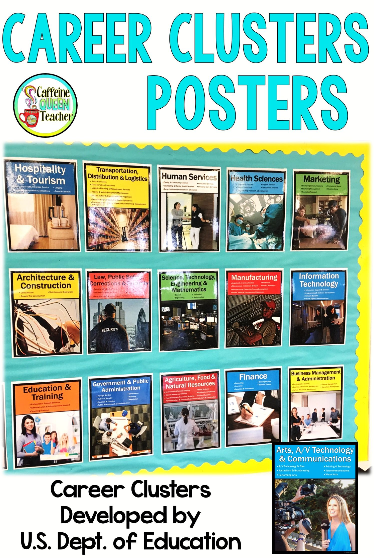 Career Clusters Posters Aaa Caffeine Queen Teacher Resources