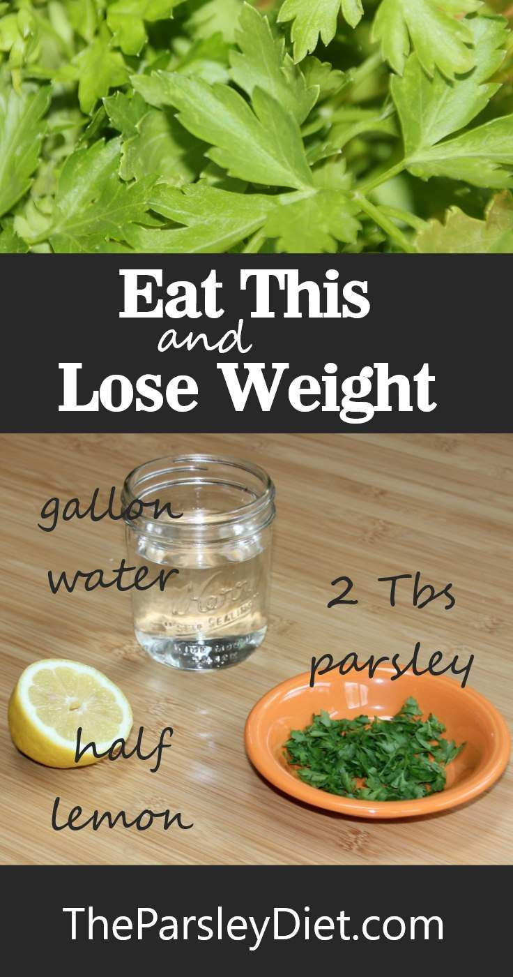 Add parsley to your diet to promote weight loss, get rid of