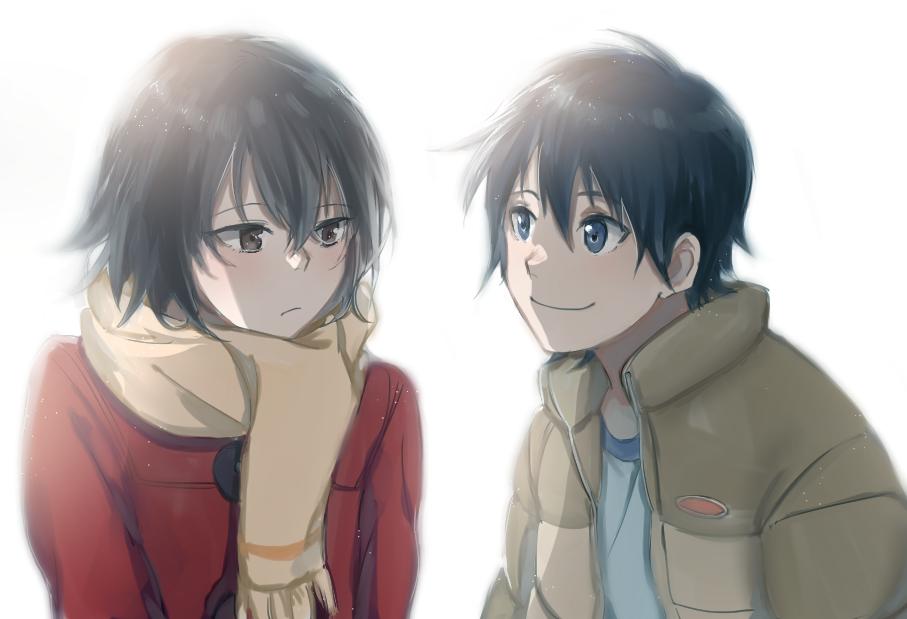 Fujinuma Satoru Y Hinazuki Kayo Boku Dake Ga Inai Machi Seinen Psicologico Sobrenatural Anime Invierno 2016 Anime Casal Anime Desenhos