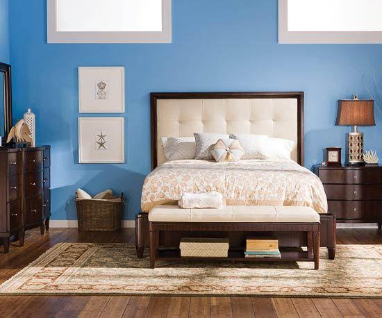Love the headboard true blue Pinterest Dark wood, Bedrooms