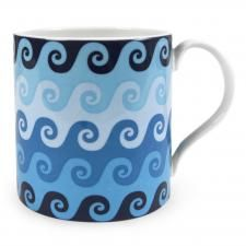 Jonathan Adler Carnaby waves mug blue