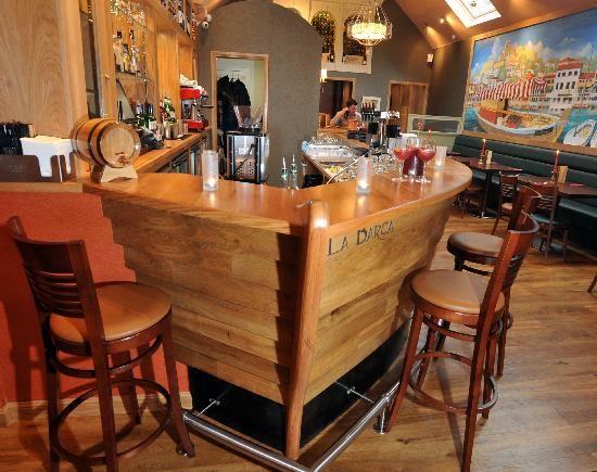 The boat shaped bar nautical restaurant decor