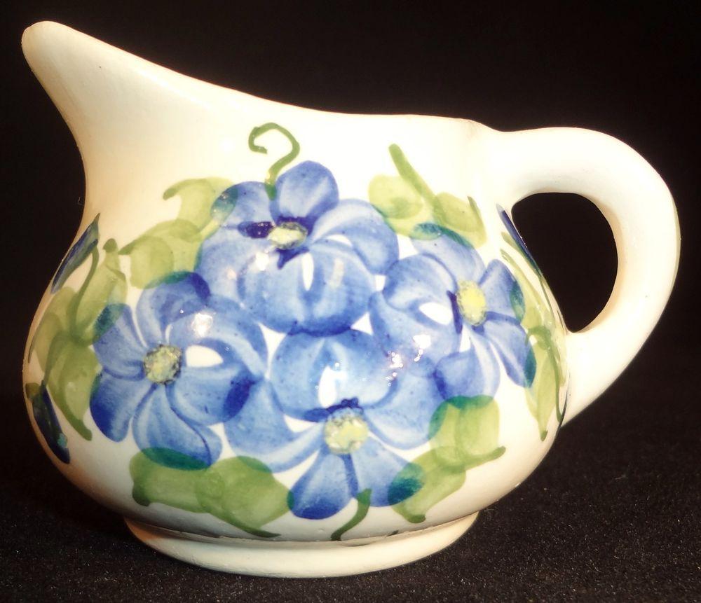 Cash Family Miniature Blue Periwinkle Creamer Southern Circa 1945 VTG  http://www.ebay.com/usr/ginger737