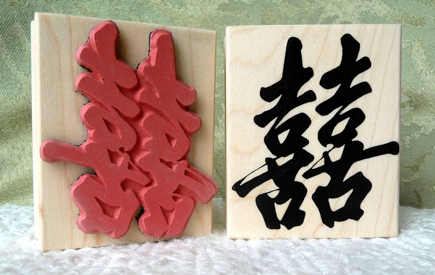 Large Double Happiness Chinese rubber stamp by oldislandstamps ...