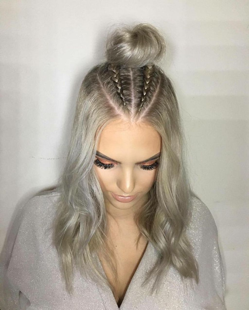 47 Easy Half Up Half Down Hairstyles Ideas Hair Styles Long Hair Styles Braids For Short Hair