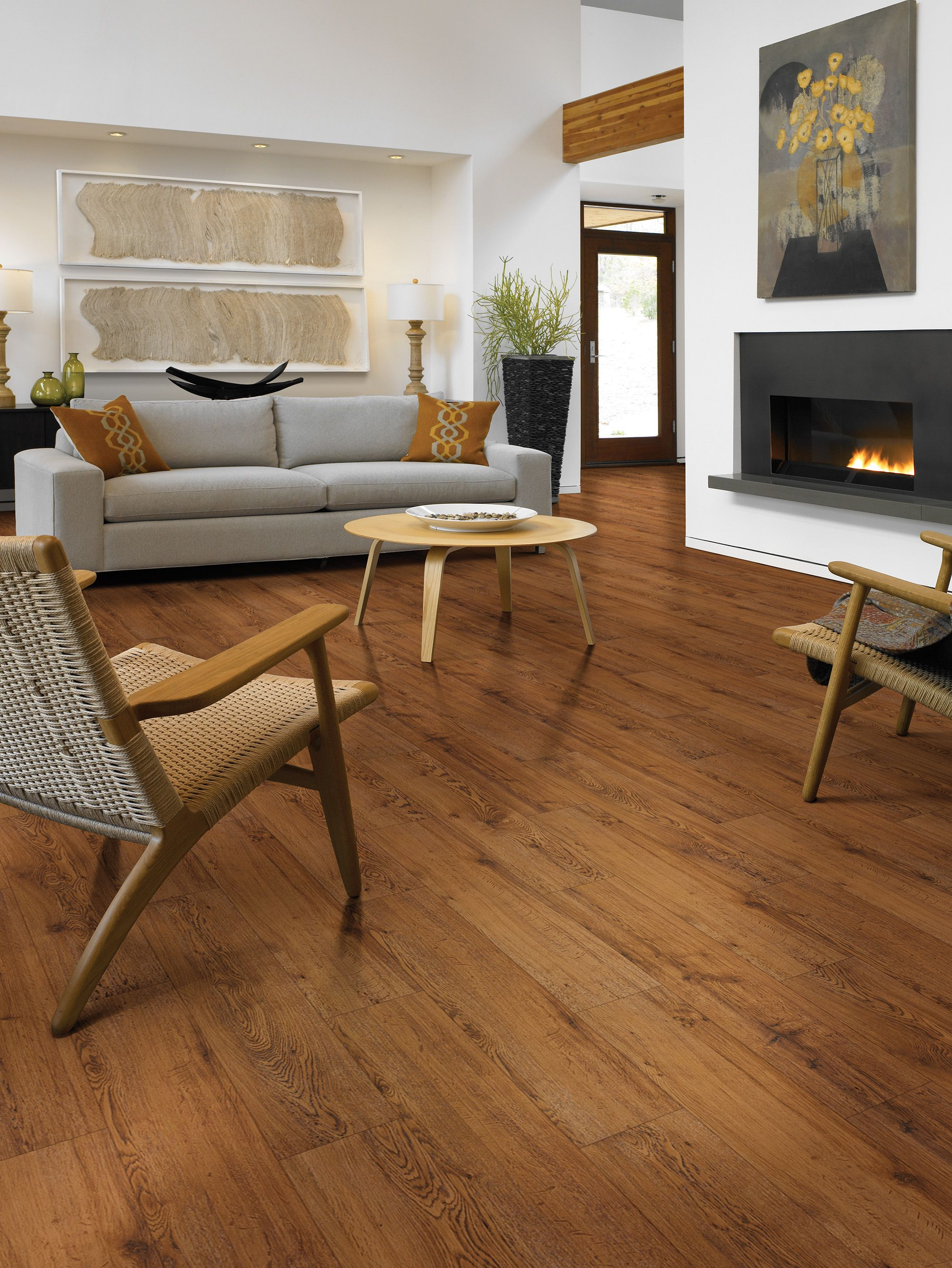 Sumter Plank LVT Flooring in the color Gunstock Oak