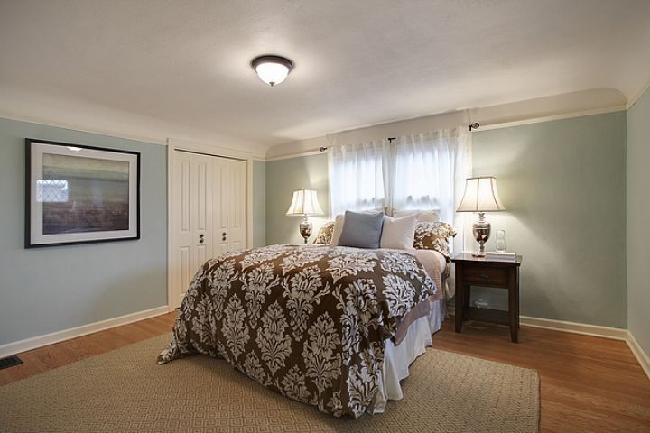 Elegant Palladian Blue Fashion Seattle Traditional Bedroom Decoration  Benjamin Moore Master