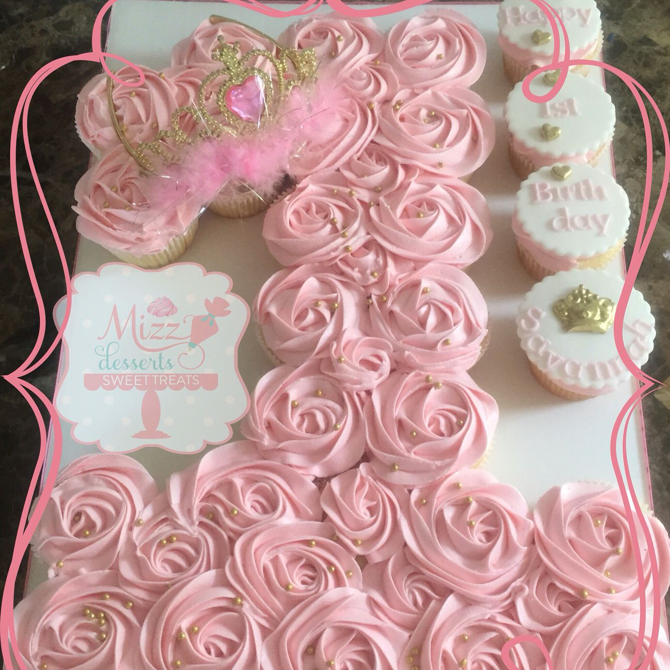 Number 1 Princess Pull Apart Cake With Images 1st Birthday