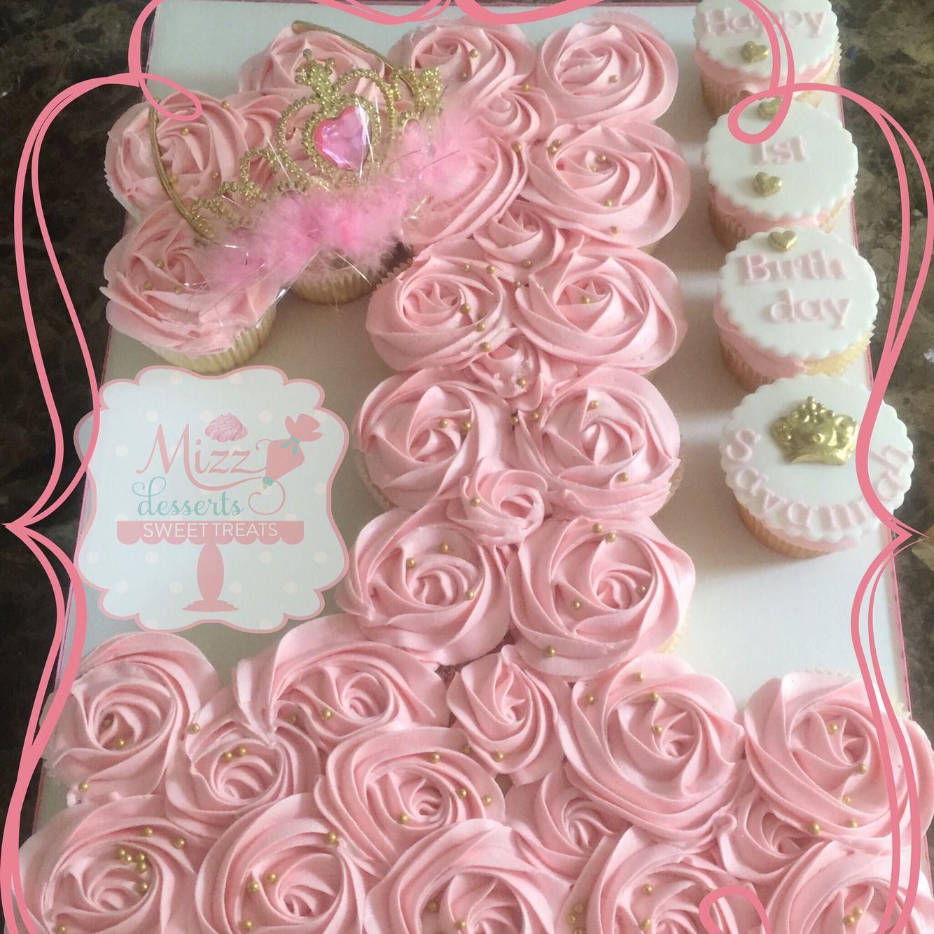 Number 1 princess pull apart cake Pinteres